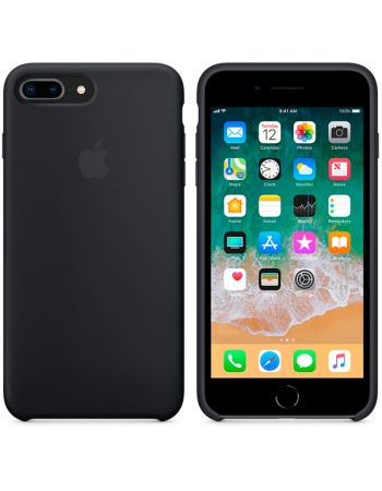 Чехол для iPhone Apple iPhone 8 Plus / 7 Plus Silicone Black